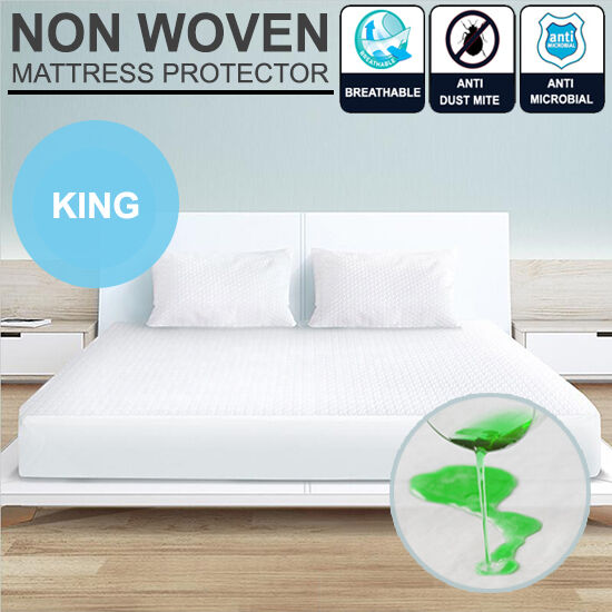 King Size Bed Fitted Waterproof Amp Anti Allergy Mattress