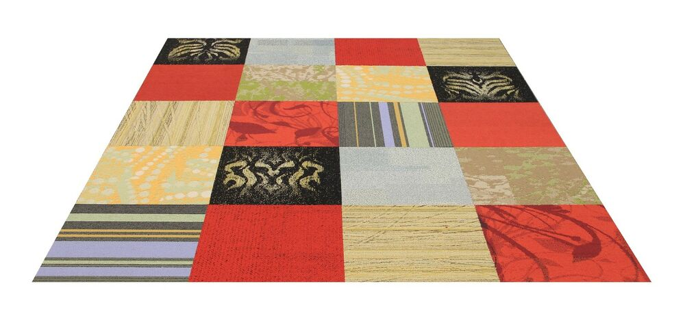 Interface Flor Carpet Tiles Scarlet Fever Area Rug Ebay