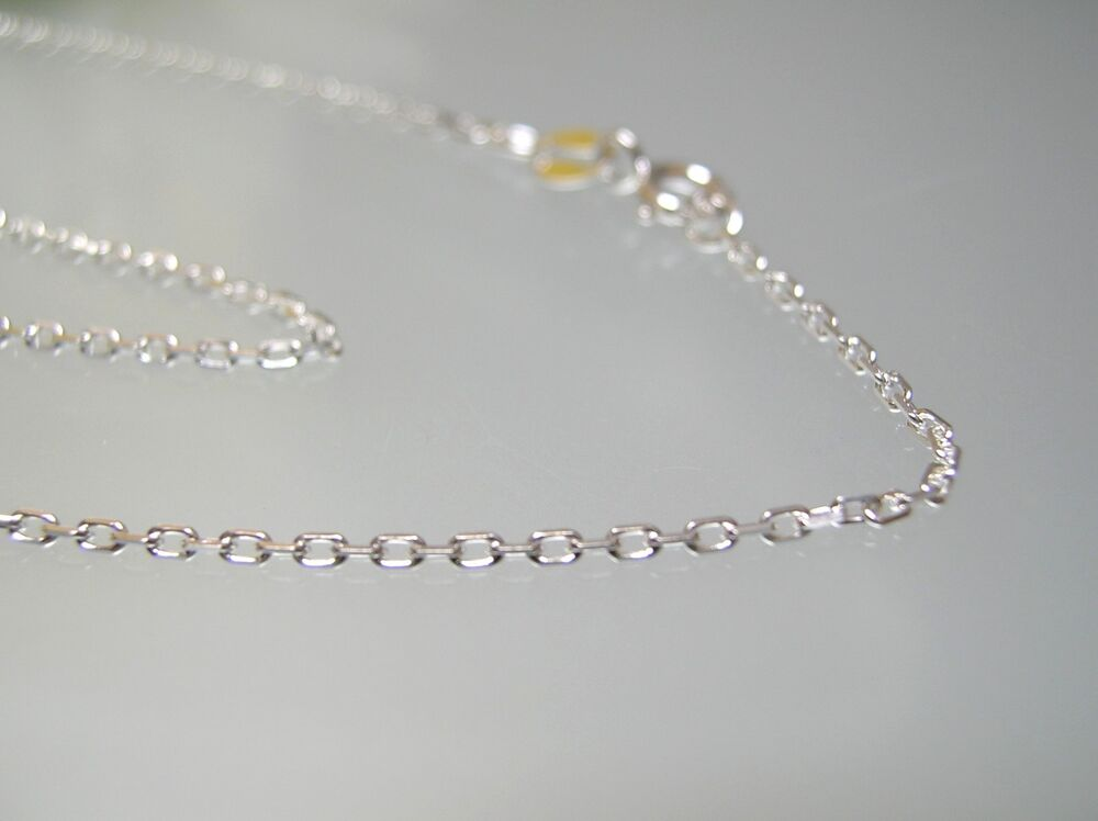 Sterling Silver Diamond Cut Cable Link Chain Necklace 16