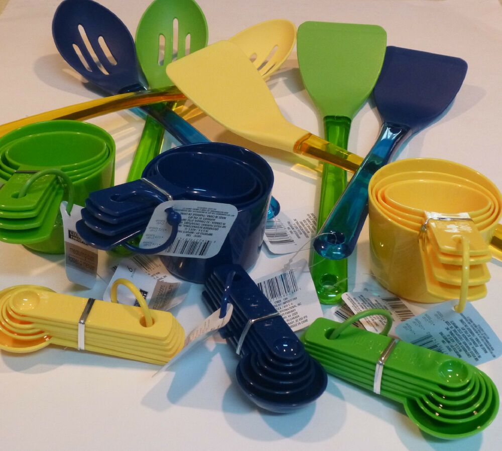 Assorted Utensils And Colors Slotted Spoon Solid Turner