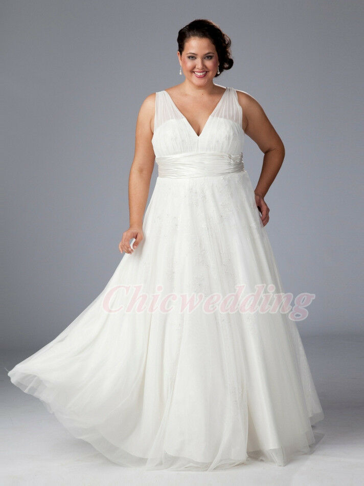 v neck custom color white ivory wedding dresses chiffon
