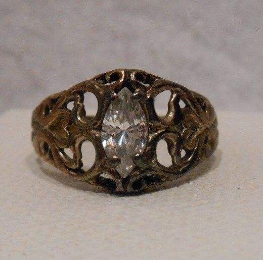 vintage antique estate kabana white topaz sterling silver
