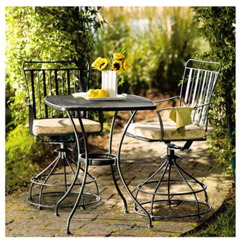 Pc milano collection bistro patio set wrought iron with