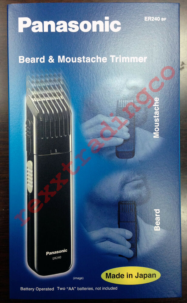 new panasonic er240 battery operated beard moustache trimmer made in japan ebay. Black Bedroom Furniture Sets. Home Design Ideas