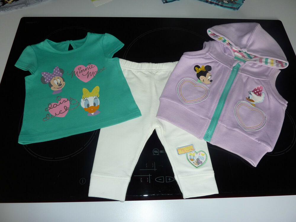 c0d4f9937f32 DISNEY Little Girls Minnie Mouse and Daisy Duck 3 Piece Set 3-6 ...