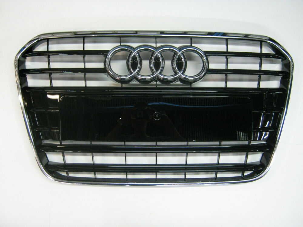 original audi a6 s6 4g k hlergrill grill chrom schwarz gl nzend 4g0853651 t94 ebay. Black Bedroom Furniture Sets. Home Design Ideas
