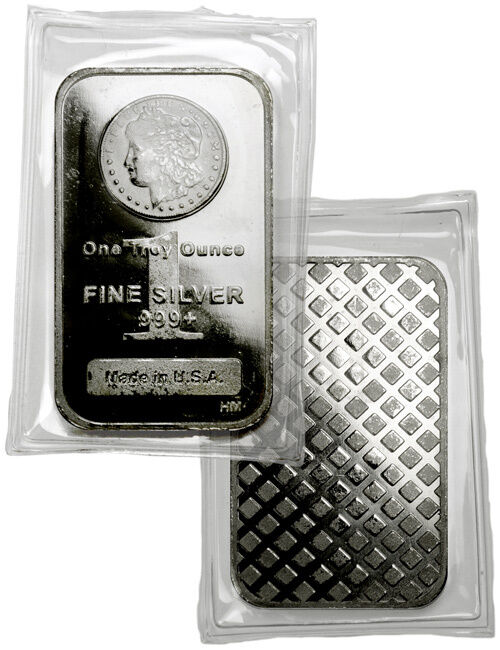 Morgan Dollar Design 1 Troy Oz 999 Fine Silver Bar