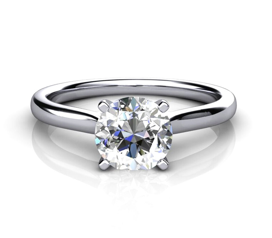 Ct White Gold   Carat Diamond Solitaire Ring