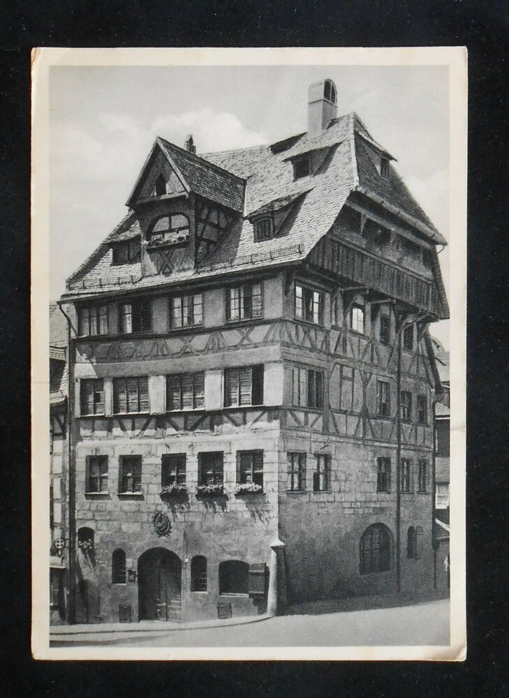 1953 das albrecht durer haus nuremberg n rnberg germany bavaria co postcard ebay. Black Bedroom Furniture Sets. Home Design Ideas