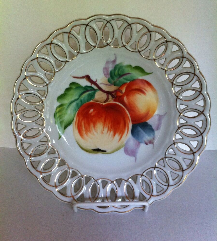 Small Decorative Plates Sets: L'Amour China Japan Hand Painted Decorative Plate Fruit