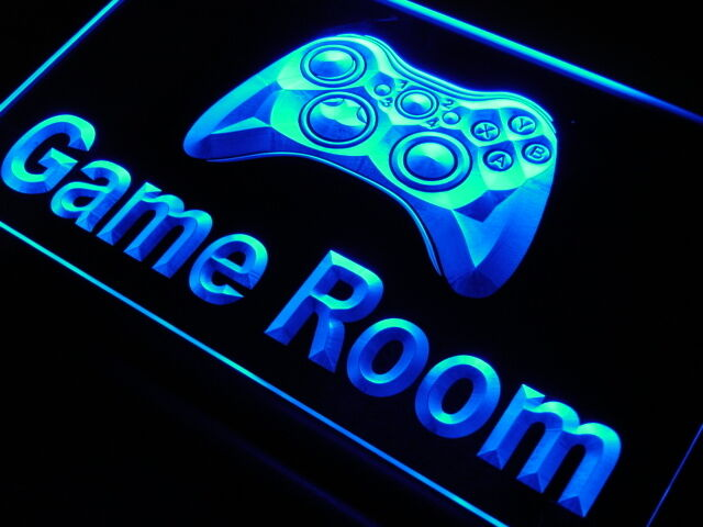 neon game room sign light led console acrylic signs lighting playstation amazon games karaoke cave ps4 lights adv pro lamps