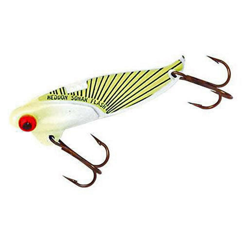 Heddon sonar blade bait x0431fch flash chartreuse 1 7 8 1 for Fishing lures at walmart