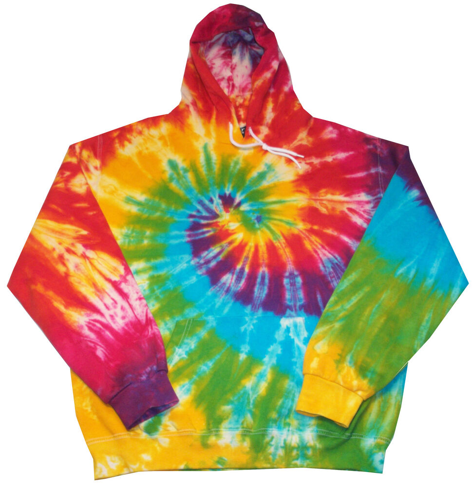 tie dye hoodie rainbow design all sizes hand dyed by. Black Bedroom Furniture Sets. Home Design Ideas