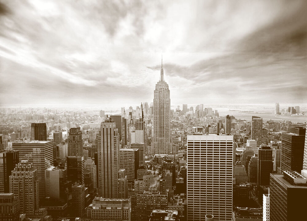 Wall mural skyline new york city photo wallpaper for wall for Cityscape murals photo wall mural