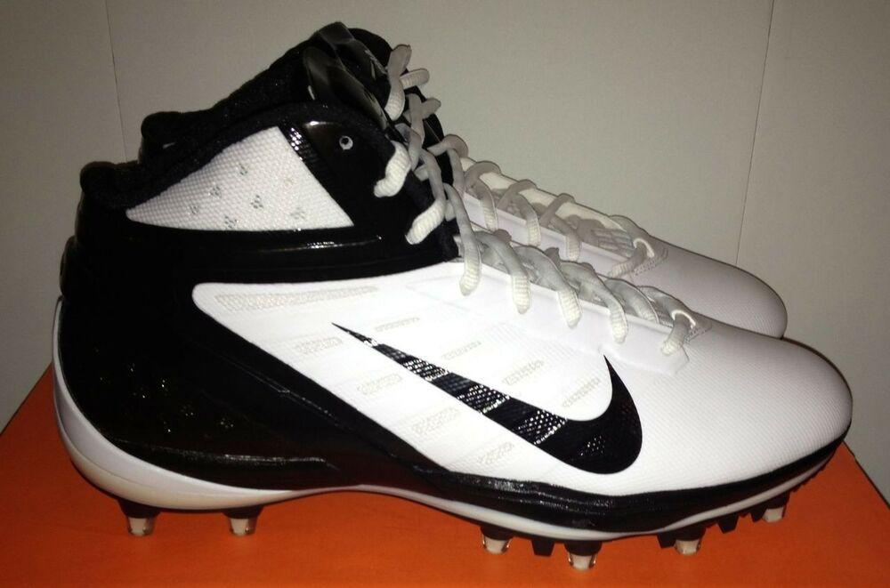 buy popular 23dcf bd1bb Details about NIKE Alpha Talon Elite 3 4 TD Molded Football Cleats White  Black NEW Mens 14