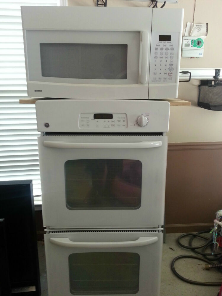 White GE Double Wall Oven Kenmore Microwave bo