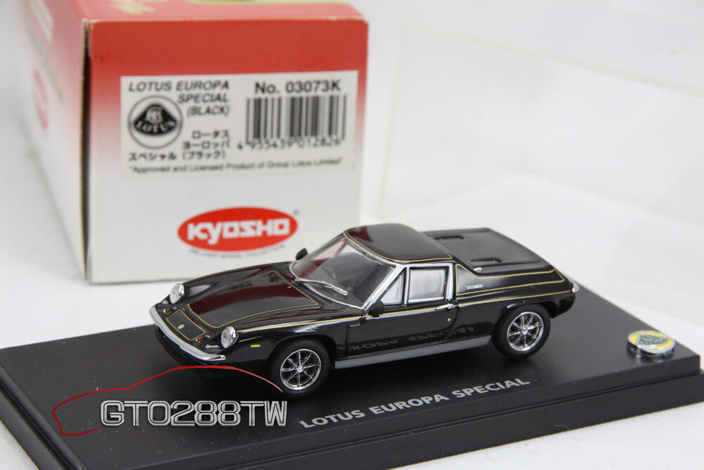 kyosho 1 43 scale lotus europa special black rare. Black Bedroom Furniture Sets. Home Design Ideas