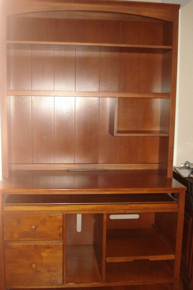 Ethan Allen Cherry Computer Desk, Hutch U0026 Chair | EBay