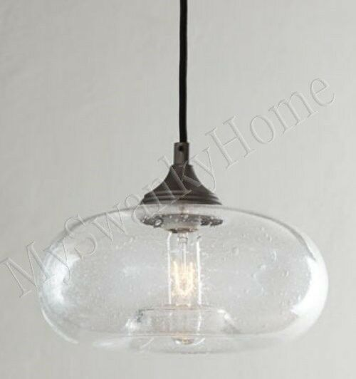 horchow seeded glass mini pendant industrial hanging light torus. Black Bedroom Furniture Sets. Home Design Ideas