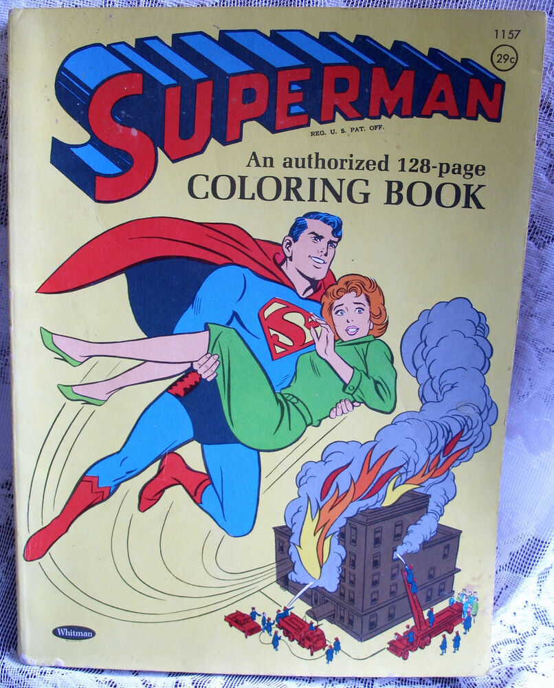 Superman Coloring Book 1964 Whitman Animation Super