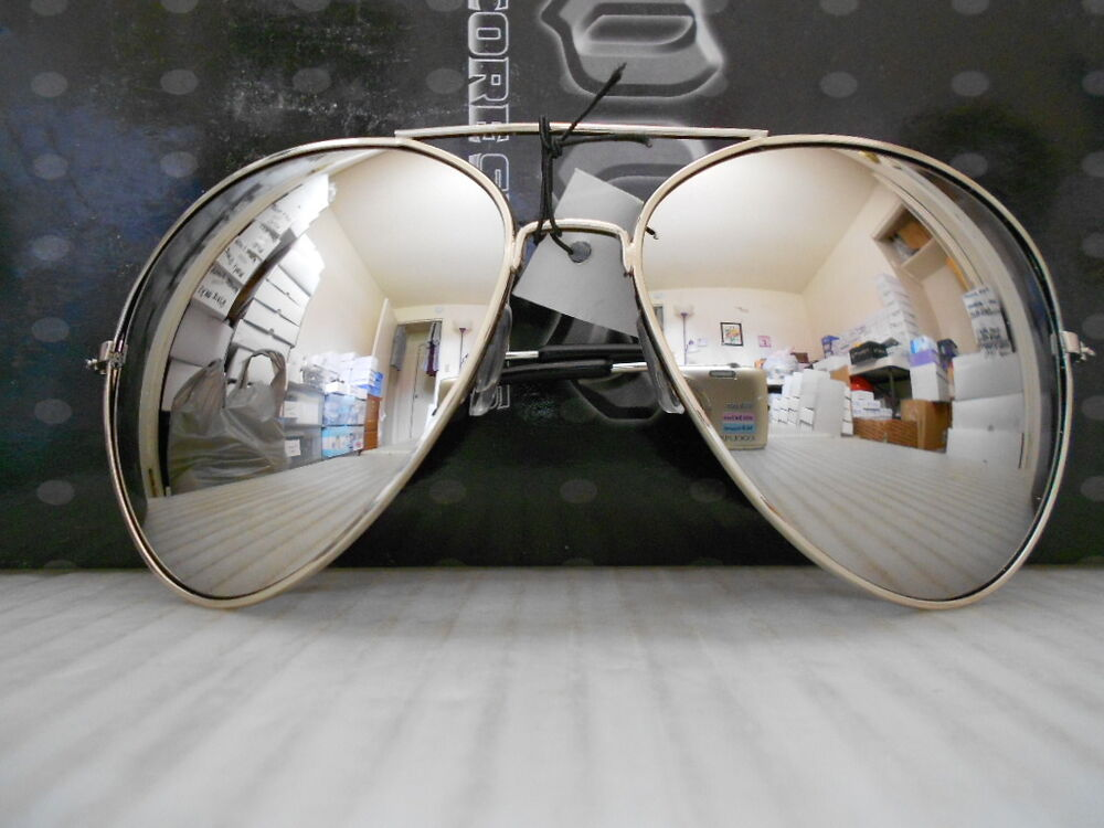 Large Framed Mirror Glasses : Aviator Sunglasses Extra Large Silver Mirrored Lenses Over ...