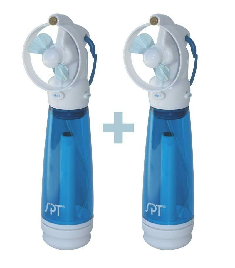 Hand Held Fans : Sunpentown spt personal hand held misting fan set of