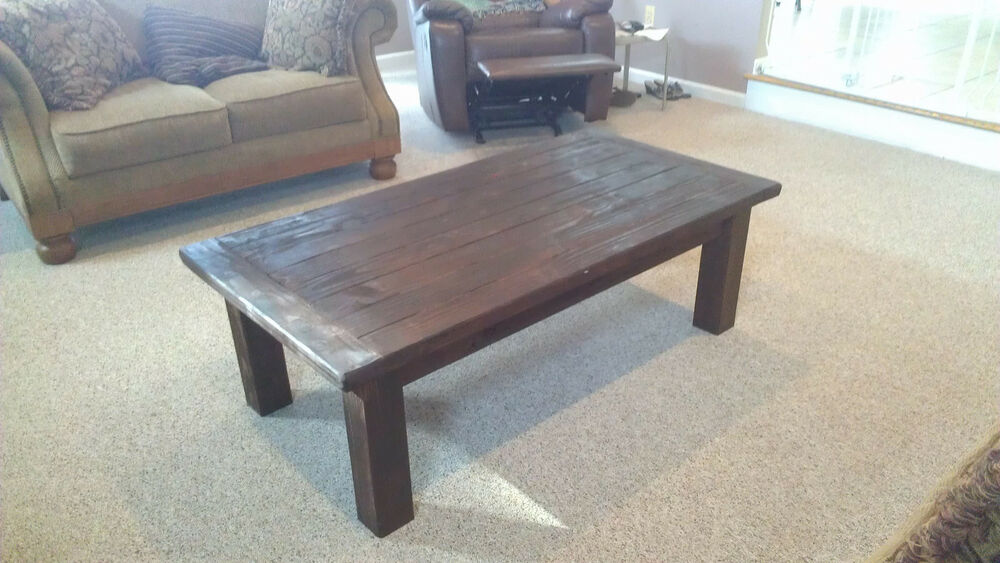 Red mahogany farm style coffee table ebay Farm style coffee tables