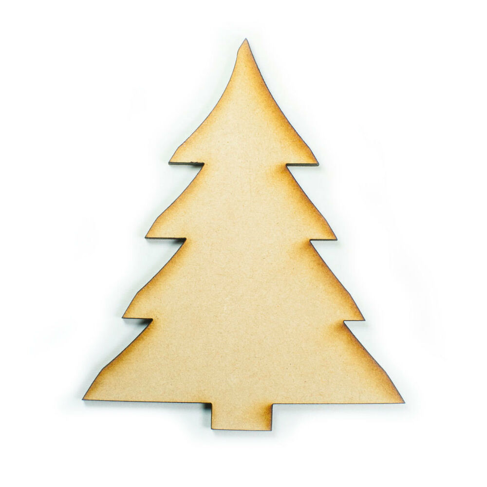 Mdf wood wooden shape shapes christmas tree cutout craft for Wooden christmas cutouts