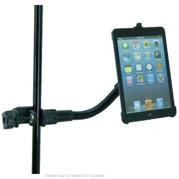 strong secure heavy duty music mic stand mount holder for ipad mini tablet ebay. Black Bedroom Furniture Sets. Home Design Ideas