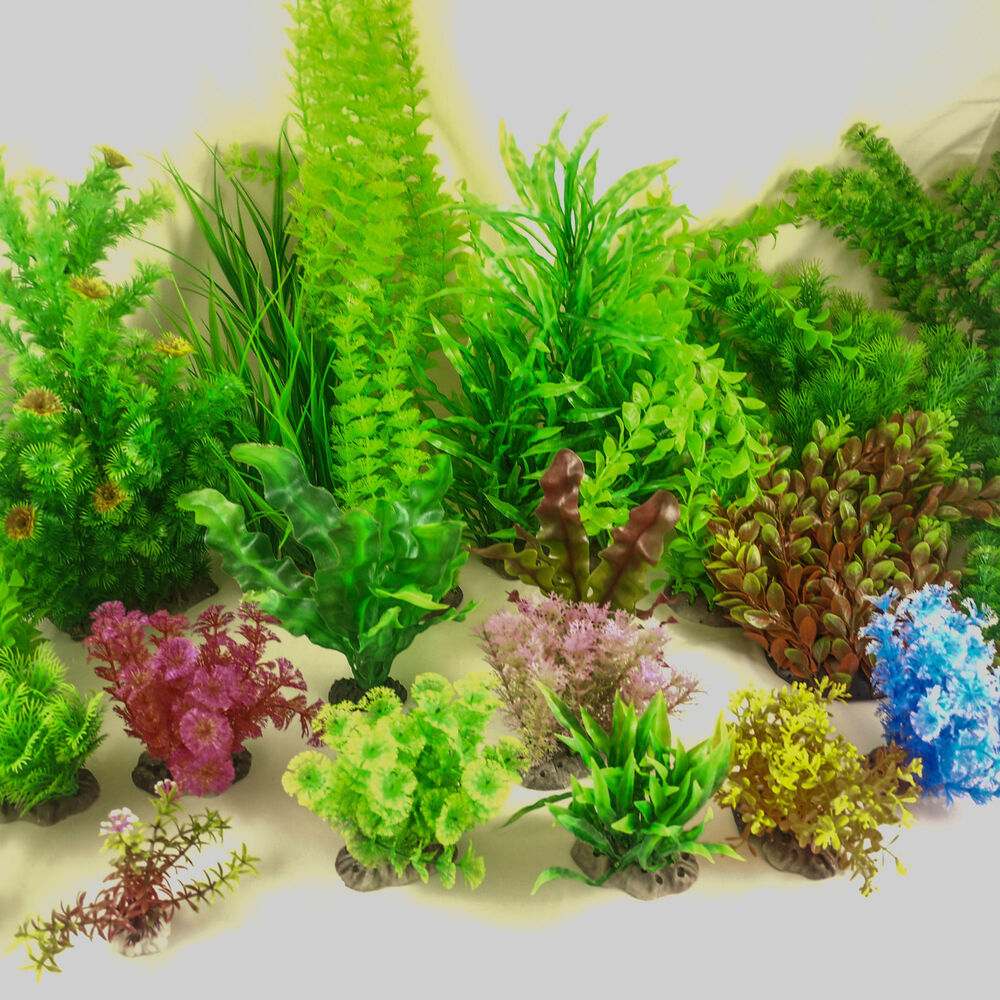Artificial aquarium plastic plants fish tank decoration for Artificial plants for decoration