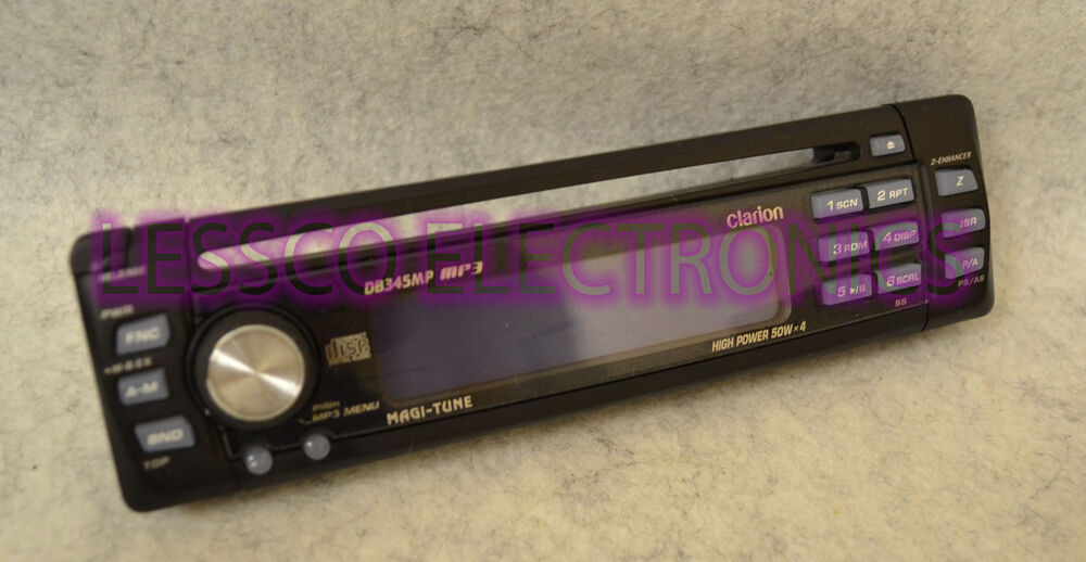 Clarion Car Stereo: CLARION DB345MP Detachable Replacement Car Stereo Face