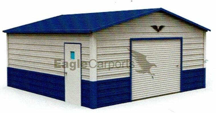 garage 20x21 all steel metal carport installed price free delivery
