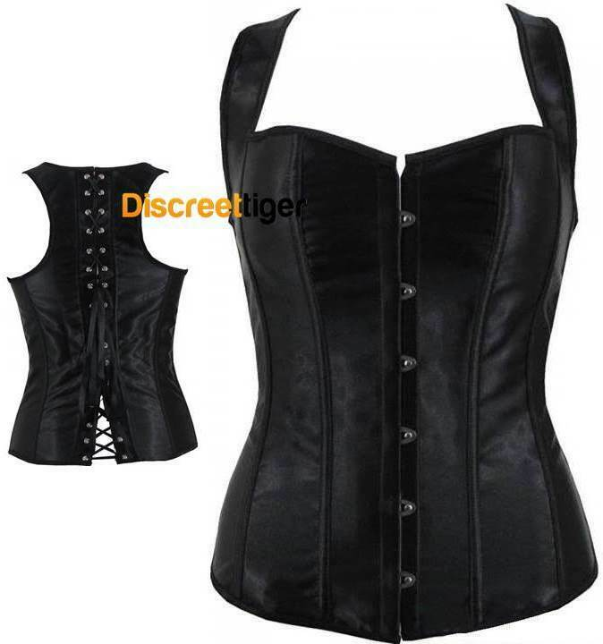 Corset Overbust Sweetheart Top Wide Straps Sexy Satin ...