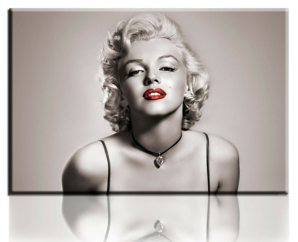 Wall Art Canvas Picture Print Of Classic Marilyn Monroe