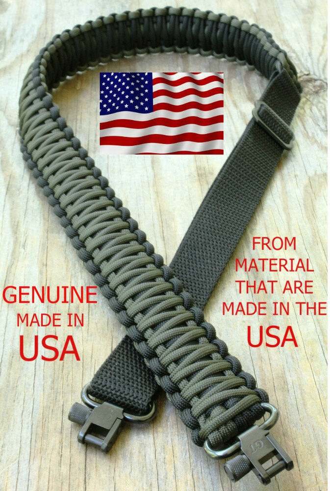 Adjustable Paracord Rifle Gun Sling Strap With Swivels Od
