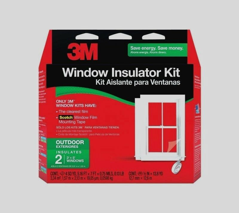 New 3m 2 3 39 x5 39 outdoor window insulator kit clear film for Window insulation kit