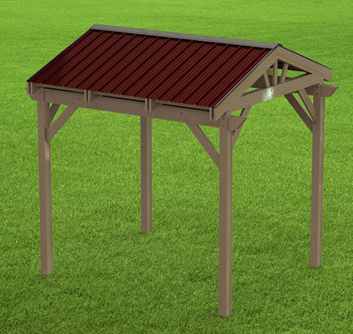 Gable Roof Plans: Yard And Garden Gazebo 005 With Gable Roof Building Plans