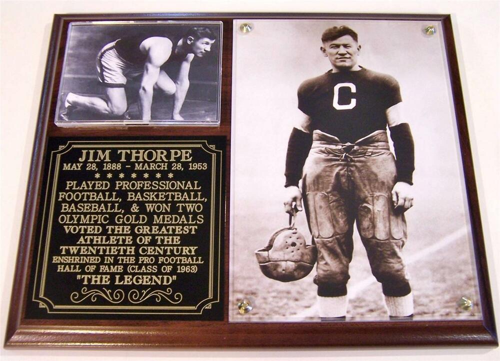 Jim Thorpe The Legend Hall Of Fame Photo Plaque Greatest