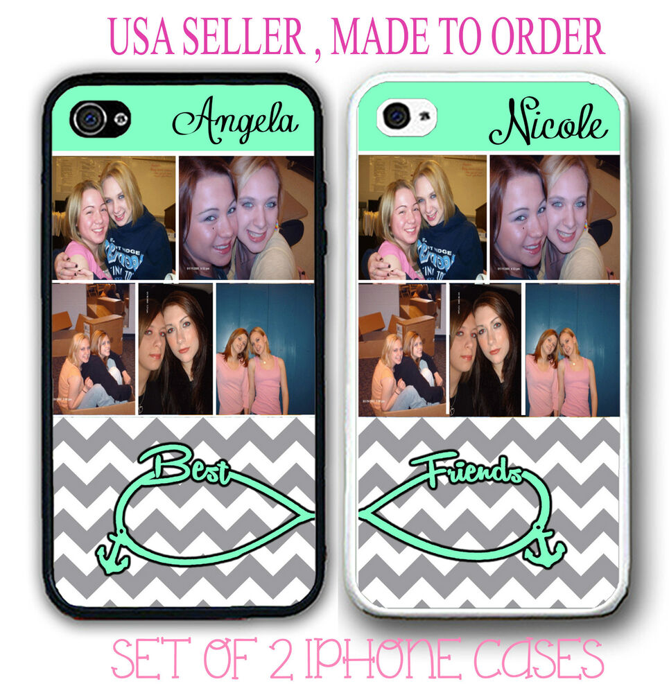 best friend iphone cases personalized custom photo grey chevron best friend 9118