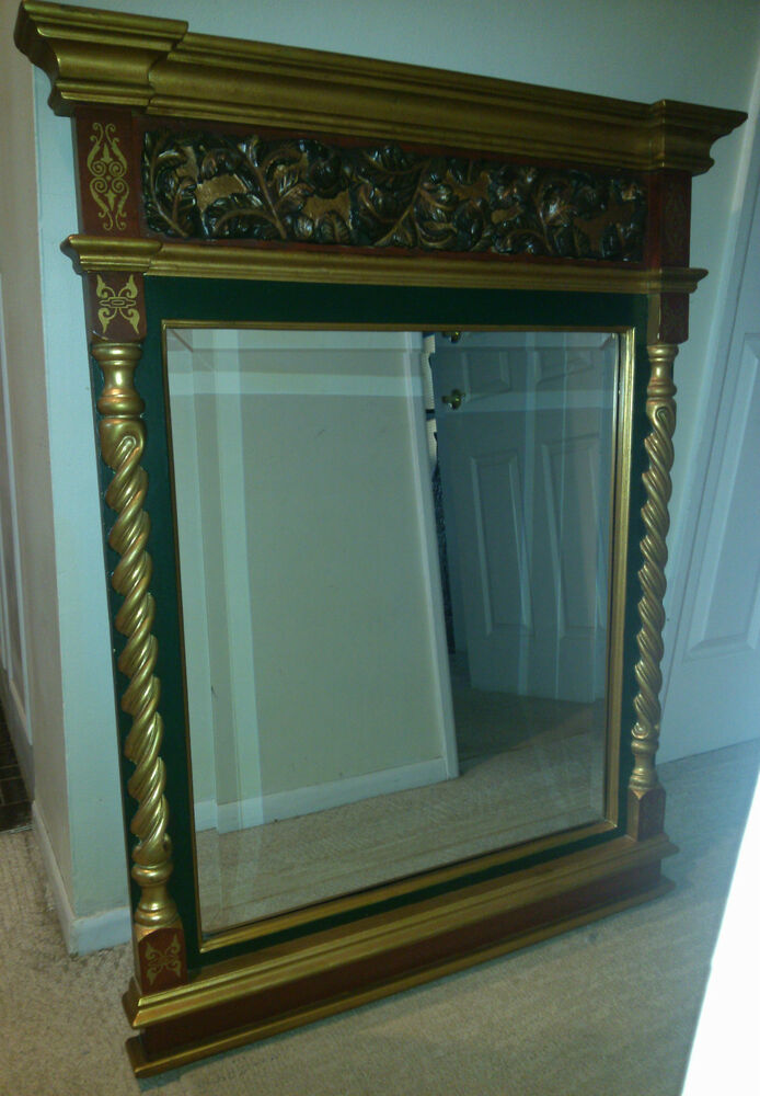 Large John Richard Decorative Art Wooden Frame Carved