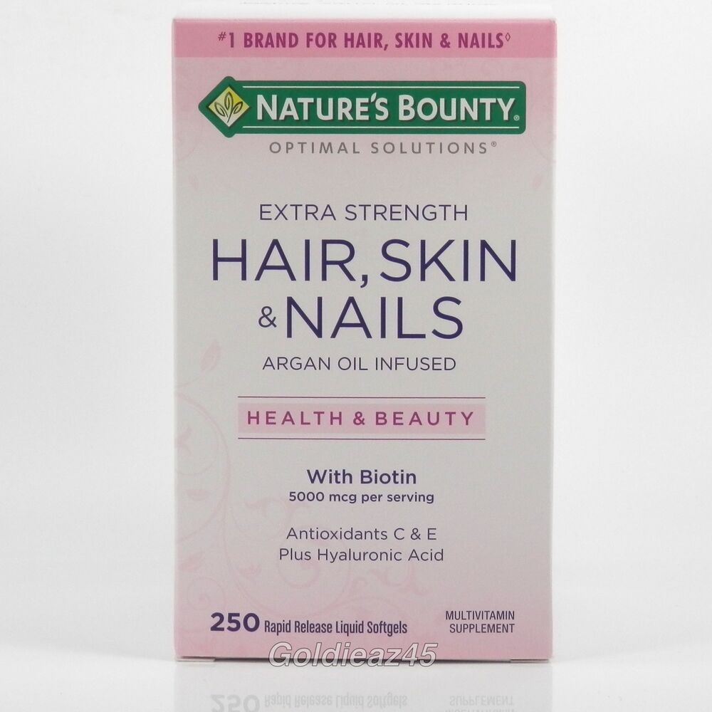 Nature S Bounty Hair Skin And Nails  Mcg Of Biotin