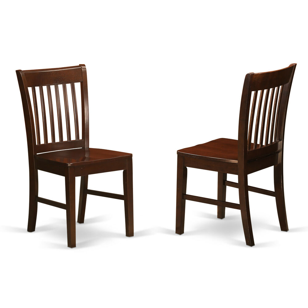 dinette kitchen dining chairs w plain wood seat in mahogany ebay