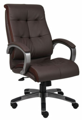 Brown Leather High Back Conference Room Office Chair EBay