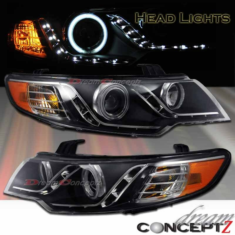 2010 2013 Angel Eyes Ccfl Projector Headlights W Led Lights For Forte Amp Koup Ebay
