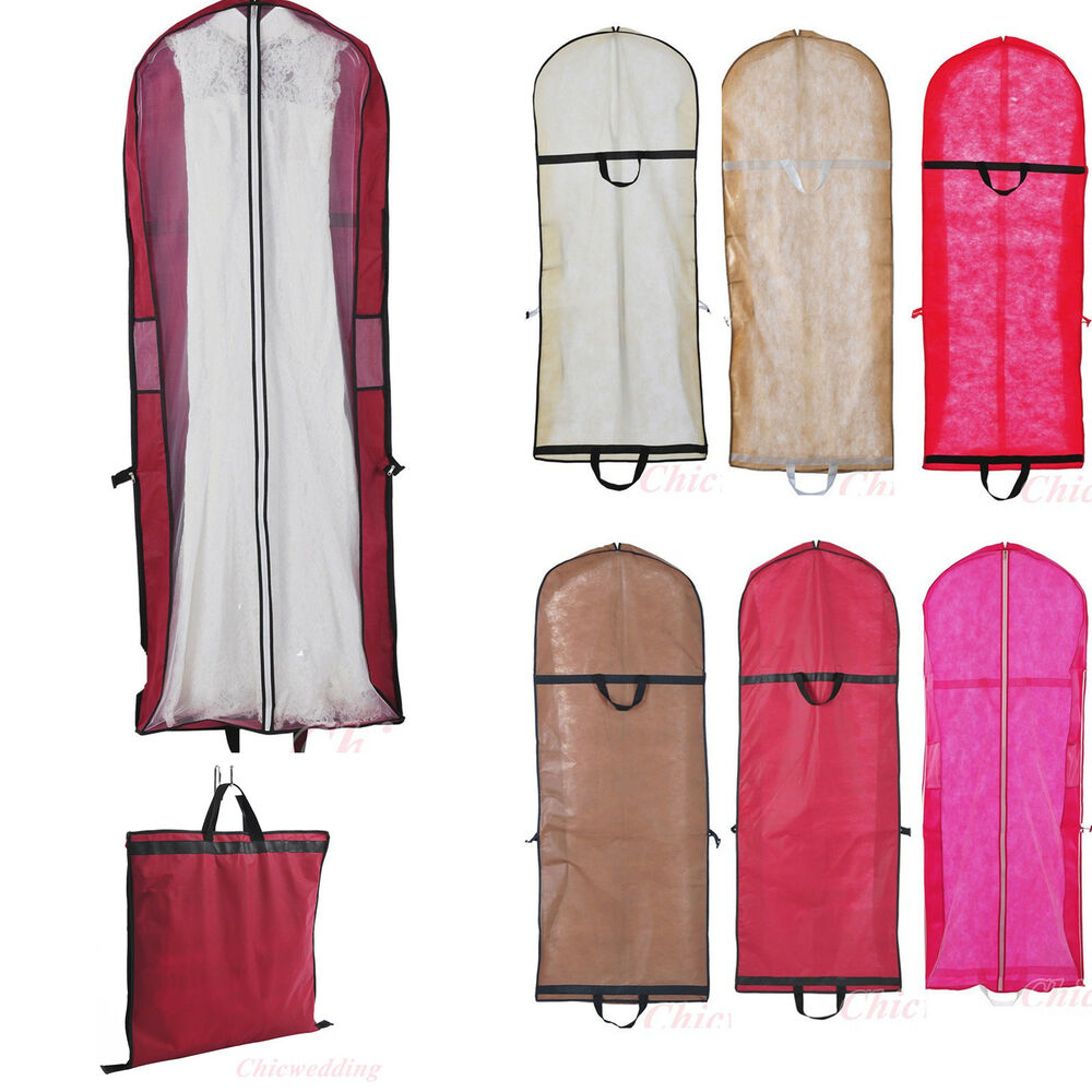 6 Colors Wedding Bridal Gown Garment Bags Prom Party Dress Suit Storage Bags