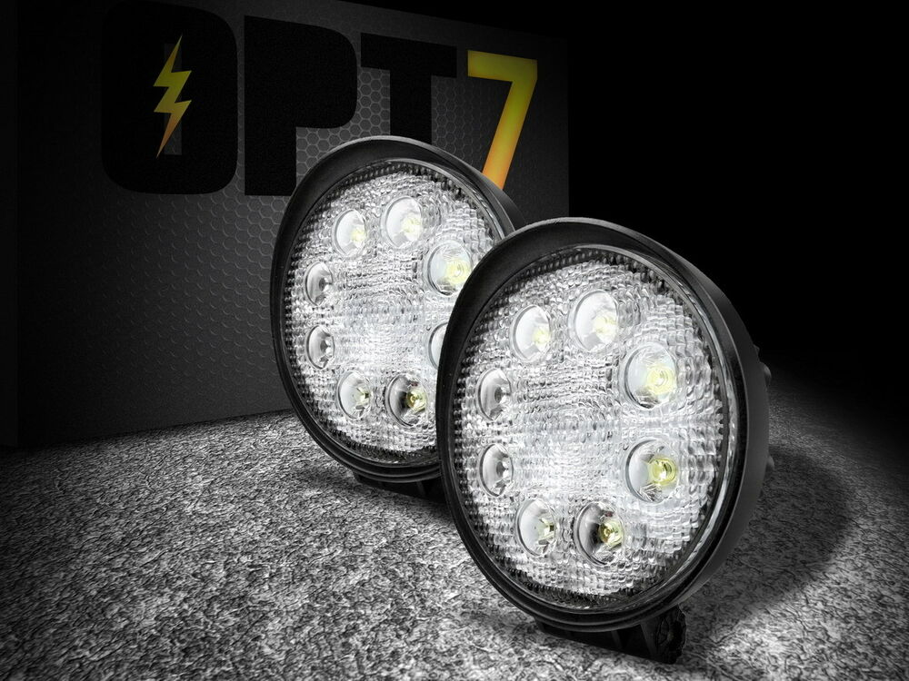 Opt7 2x Off Road Led Spot Light Round 24w Mini 4 Quot Work Atv