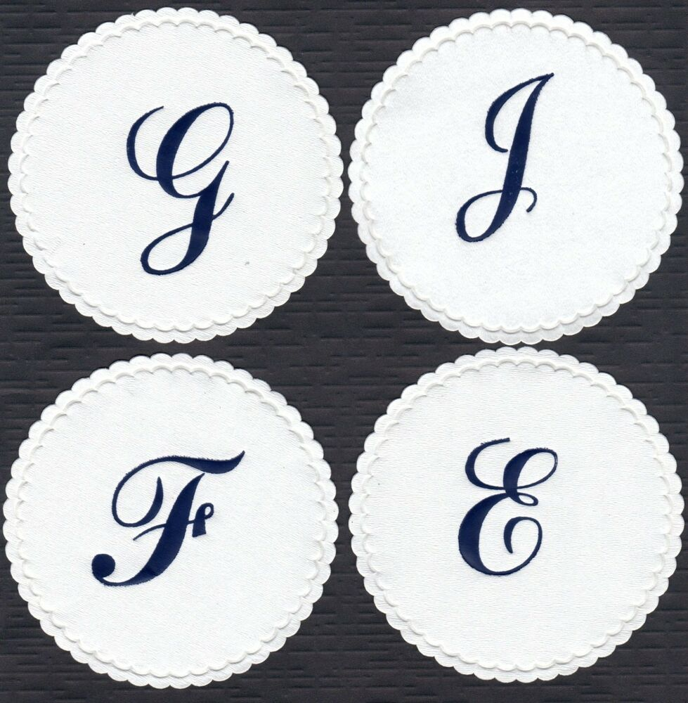 50 monogrammed white soft paper coasters 4 u0026quot  wax paper backing in acrylic box