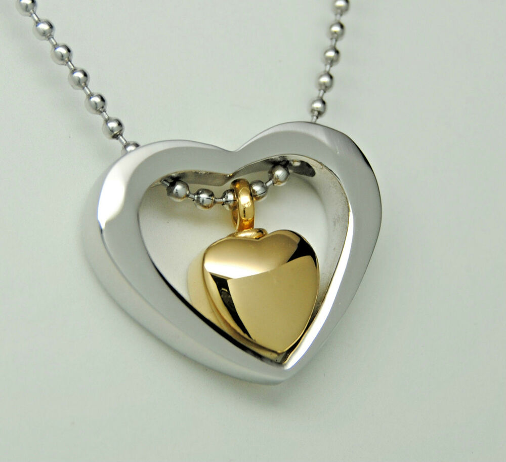 Heart Cremation Urn Jewelry Gold Heart Urn Necklace