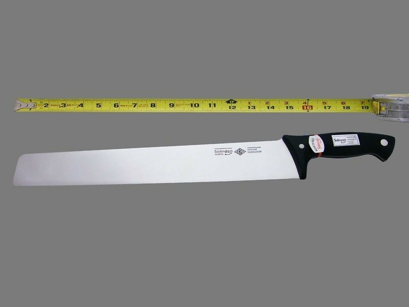 14 long cleaver chef knife restaurant grade knives german style commercial ebay. Black Bedroom Furniture Sets. Home Design Ideas