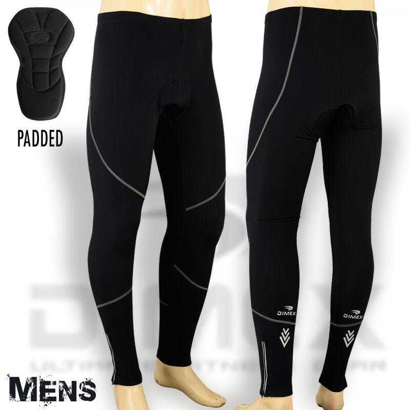 Mens Cycling Tights Winter Thermel Fleece Padded Pant ...